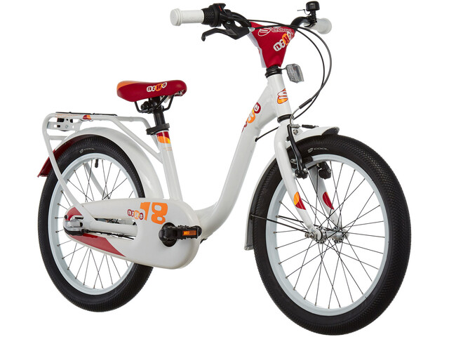 s'cool niXe 18 3-S Børnecykel alloy hvid | City-cykler